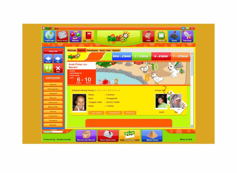 Preview Halaman Muka BMKids-Browser 5.5